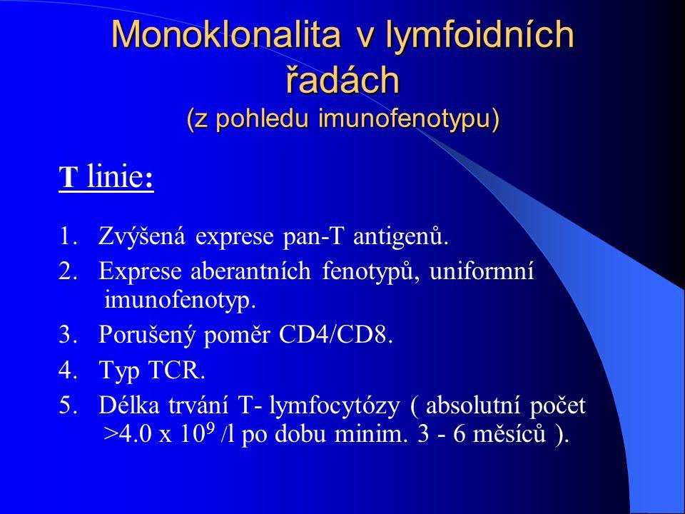 Monoklonalita v lymfoidních řadách (z pohledu imunofenotypu)
