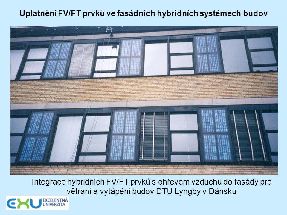 Uplatnění FV/FT prvků ve fasádních hybridních systémech budov