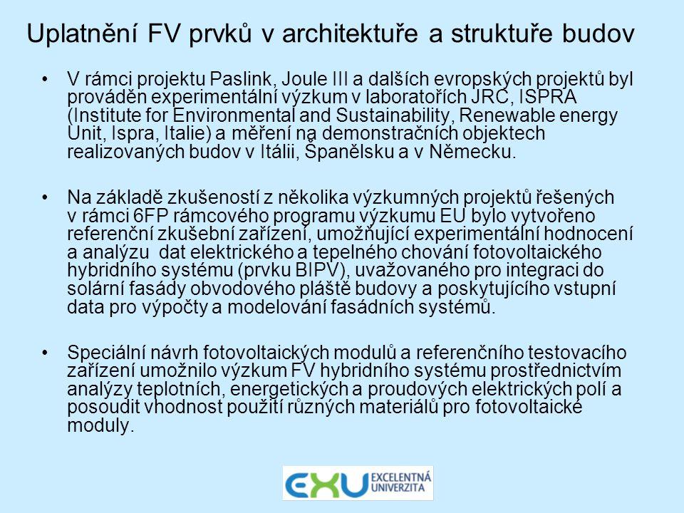 Uplatnění FV prvků v architektuře a struktuře budov