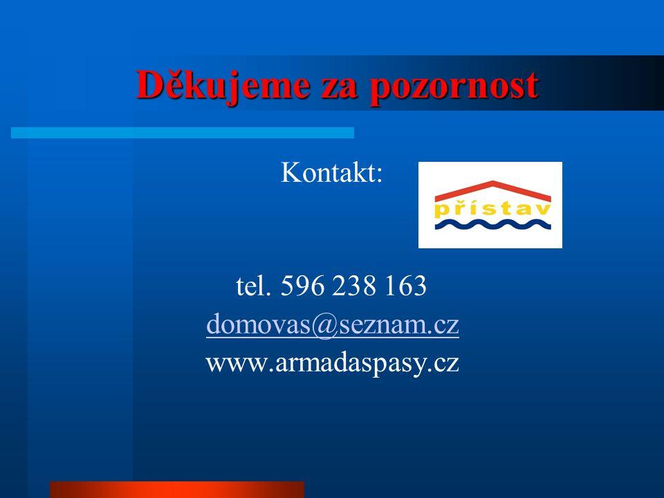 Kontakt: tel. 596 238 163 domovas@seznam.cz www.armadaspasy.cz