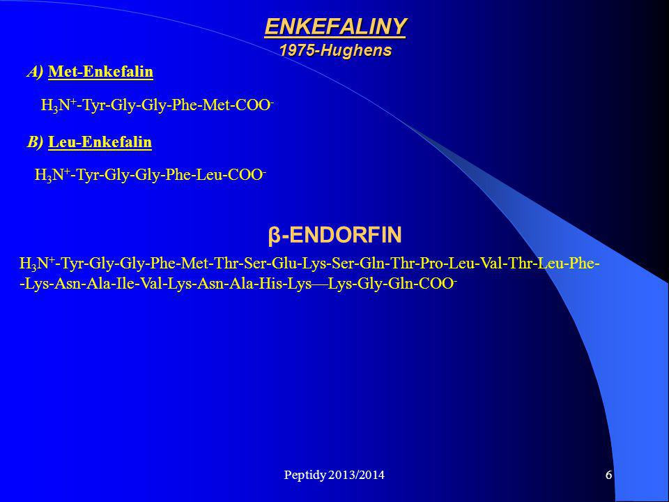 ENKEFALINY 1975-Hughens β-ENDORFIN
