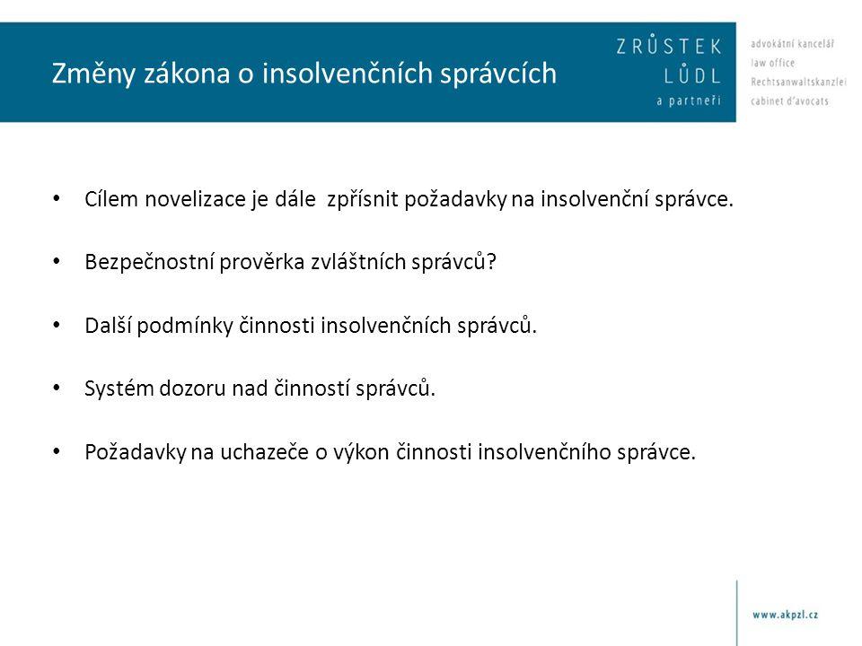 Změny zákona o insolvenčních správcích