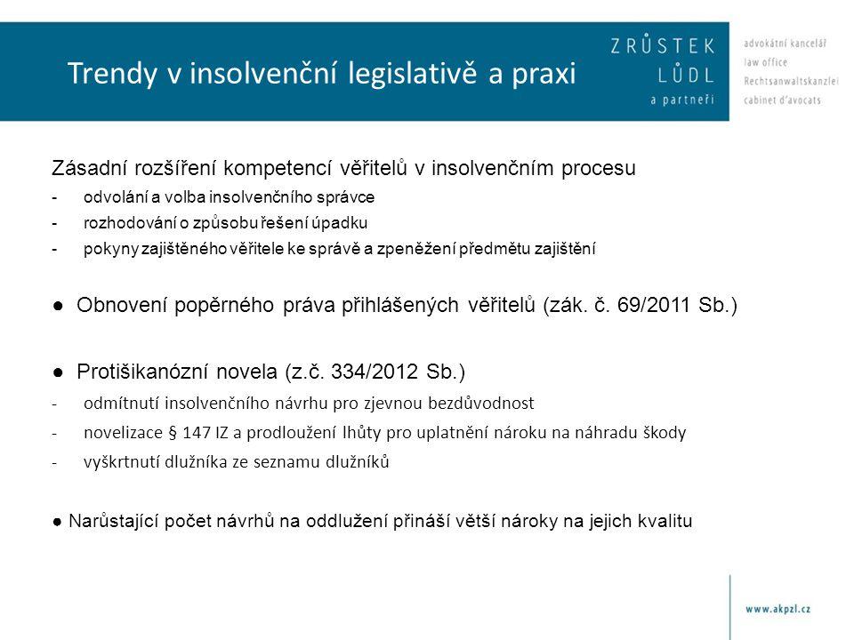 Trendy v insolvenční legislativě a praxi