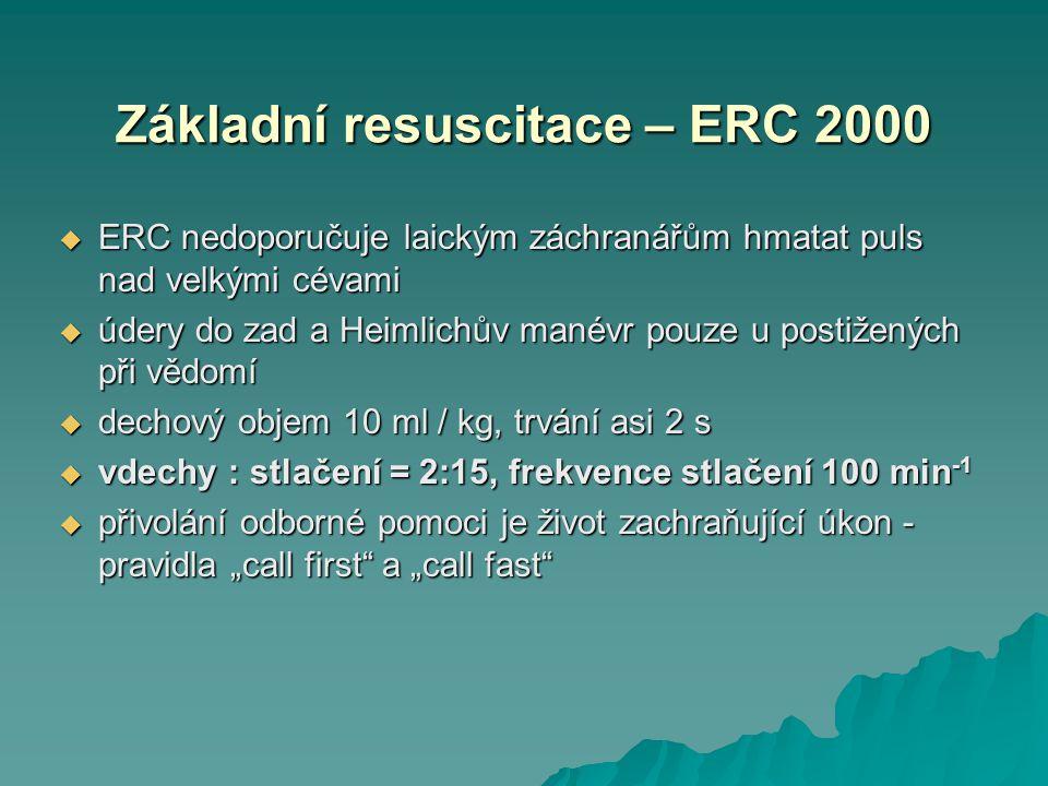 Základní resuscitace – ERC 2000