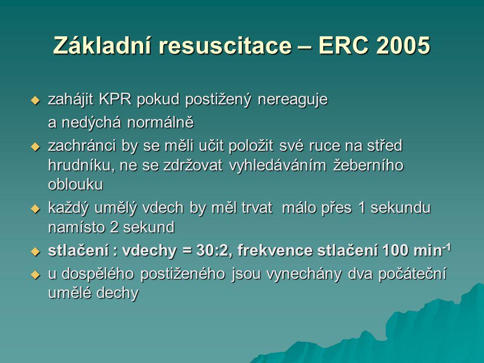Základní resuscitace – ERC 2005