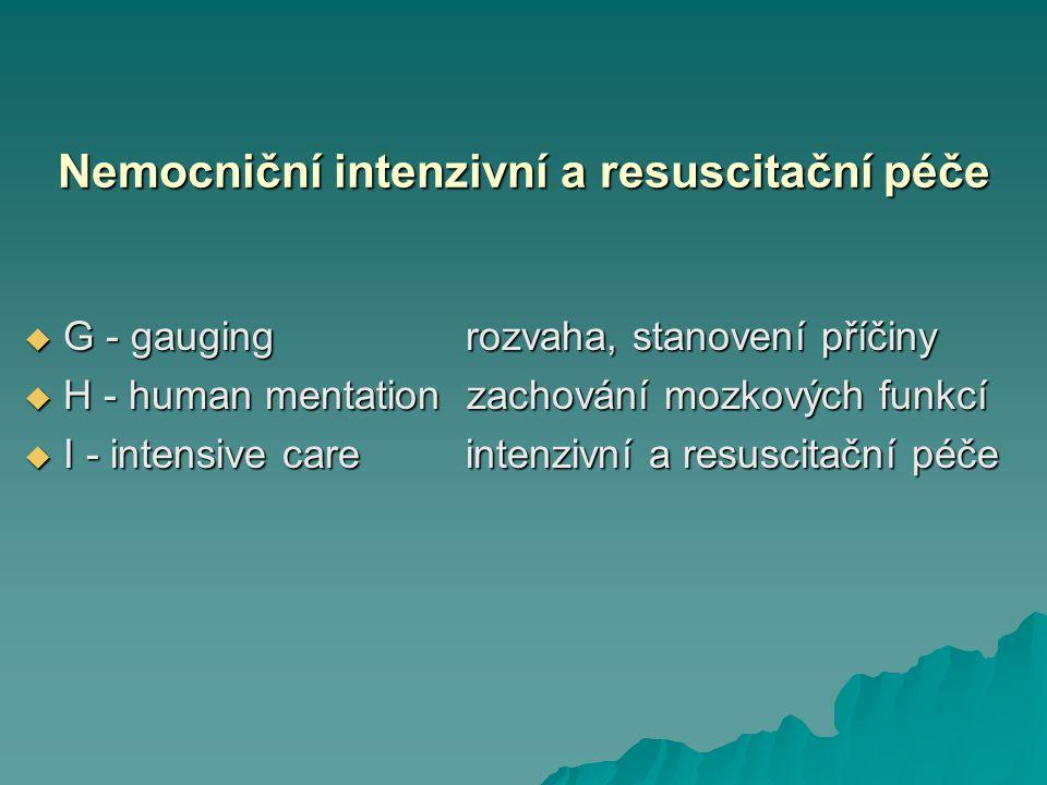 Nemocniční intenzivní a resuscitační péče