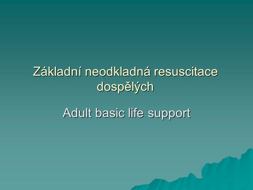 Základní neodkladná resuscitace dospělých