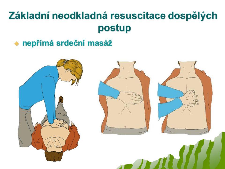 Základní neodkladná resuscitace dospělých postup
