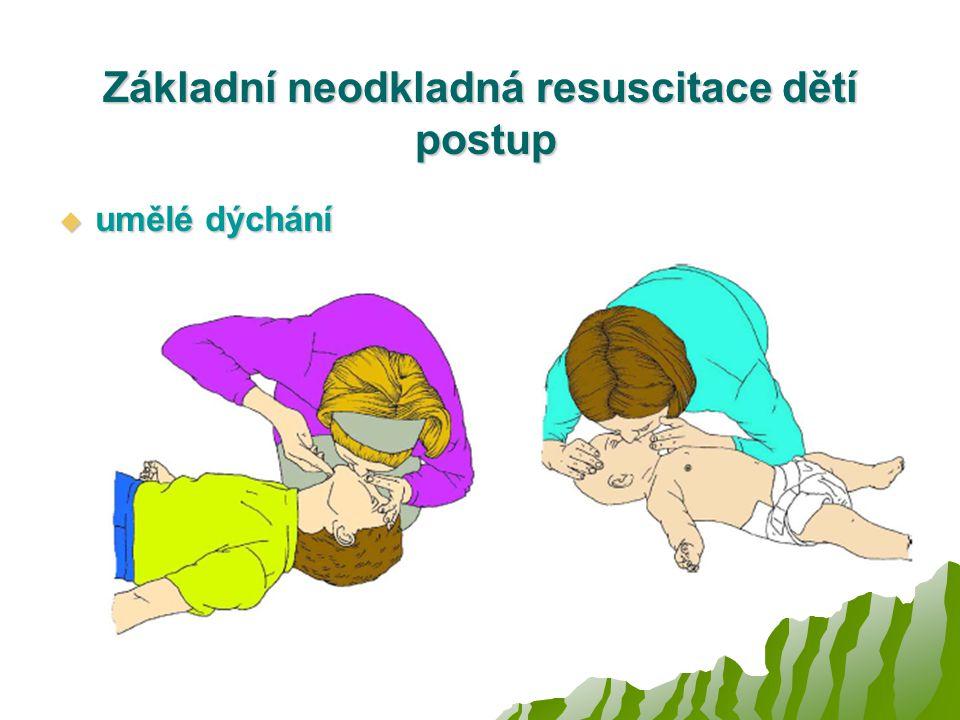 Základní neodkladná resuscitace dětí postup