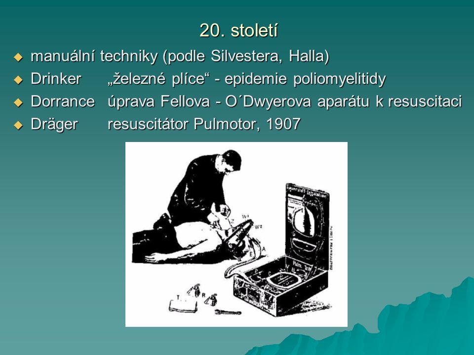 20. století manuální techniky (podle Silvestera, Halla)