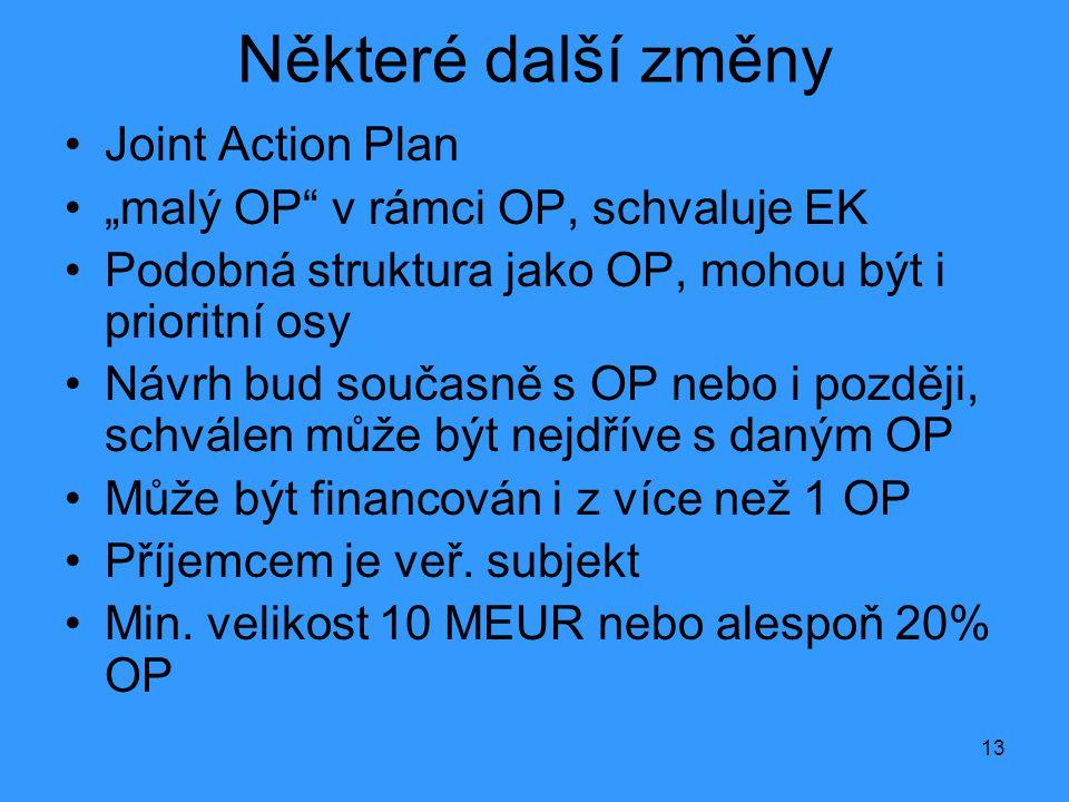 Některé další změny Joint Action Plan