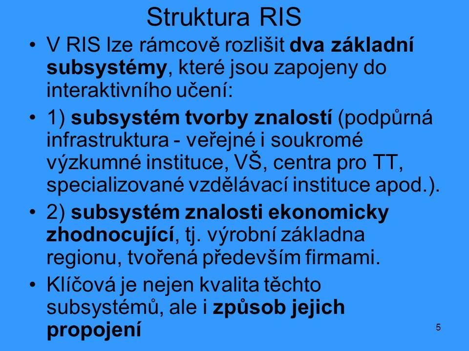 Struktura RIS V RIS lze rámcově rozlišit dva základní subsystémy, které jsou zapojeny do interaktivního učení: