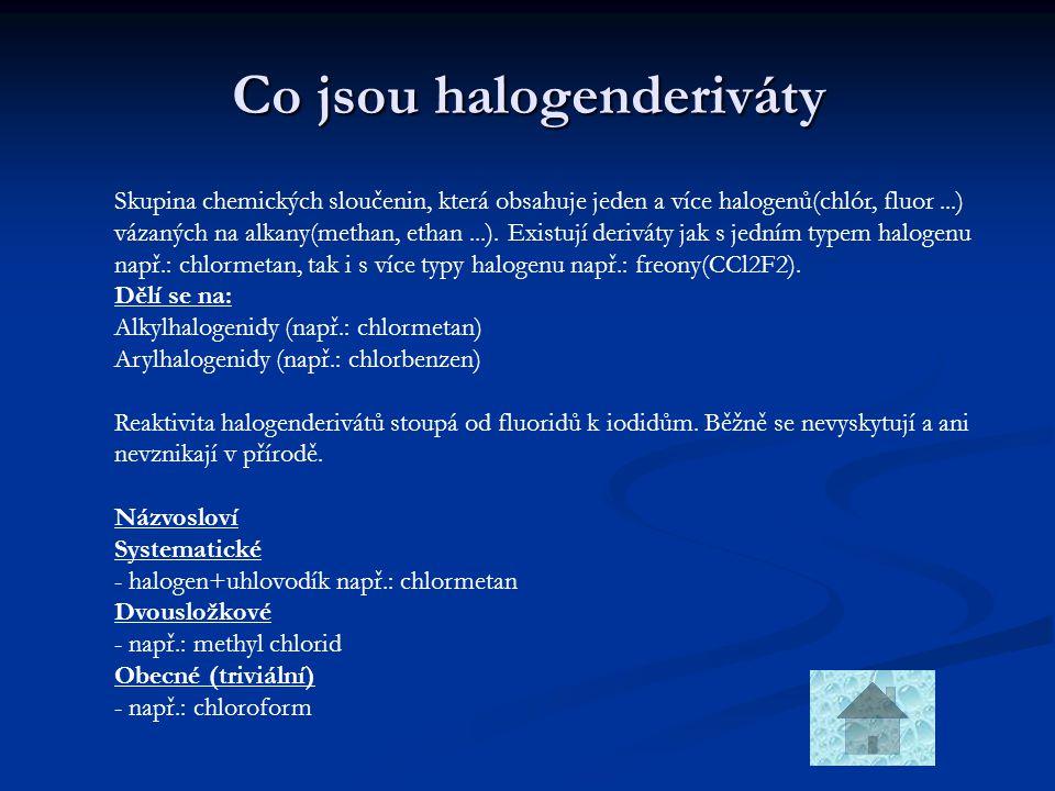 Co jsou halogenderiváty