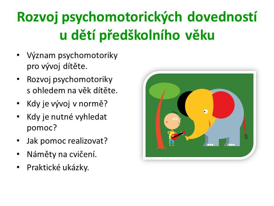 Rozvoj psychomotorických dovedností u dětí předškolního věku