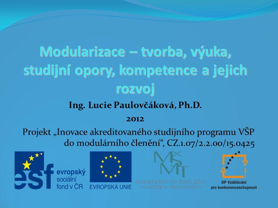 Ing. Lucie Paulovčáková, Ph.D.
