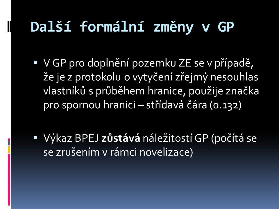 Další formální změny v GP