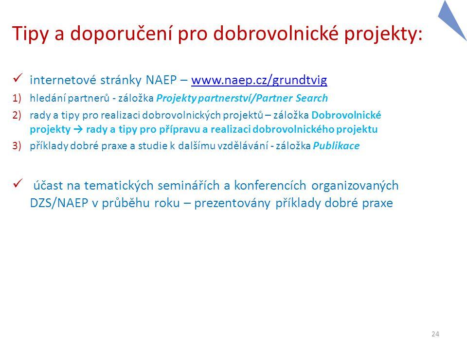 Tipy a doporučení pro dobrovolnické projekty: