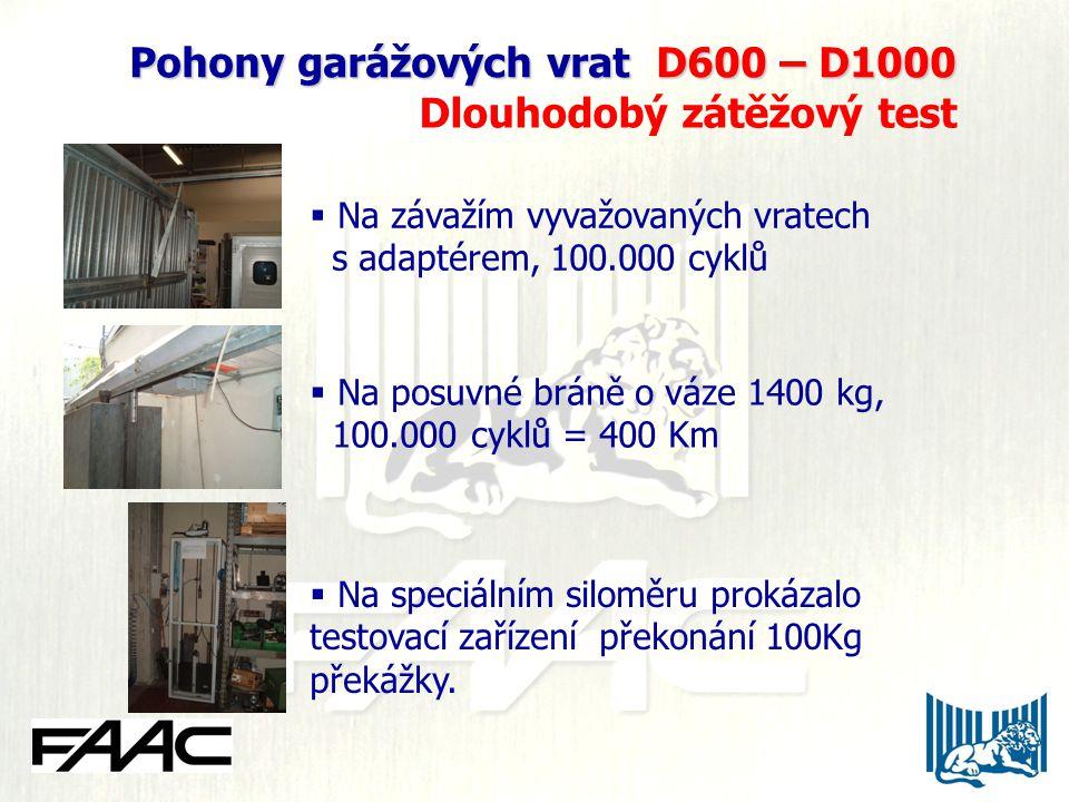Pohony garážových vrat D600 – D1000