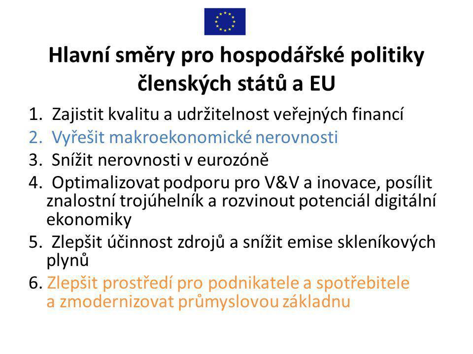 Hlavní směry pro hospodářské politiky členských států a EU