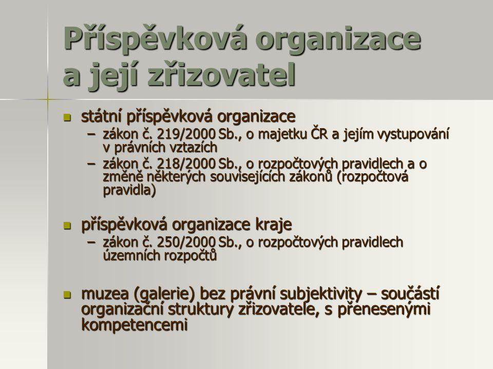 Příspěvková organizace a její zřizovatel