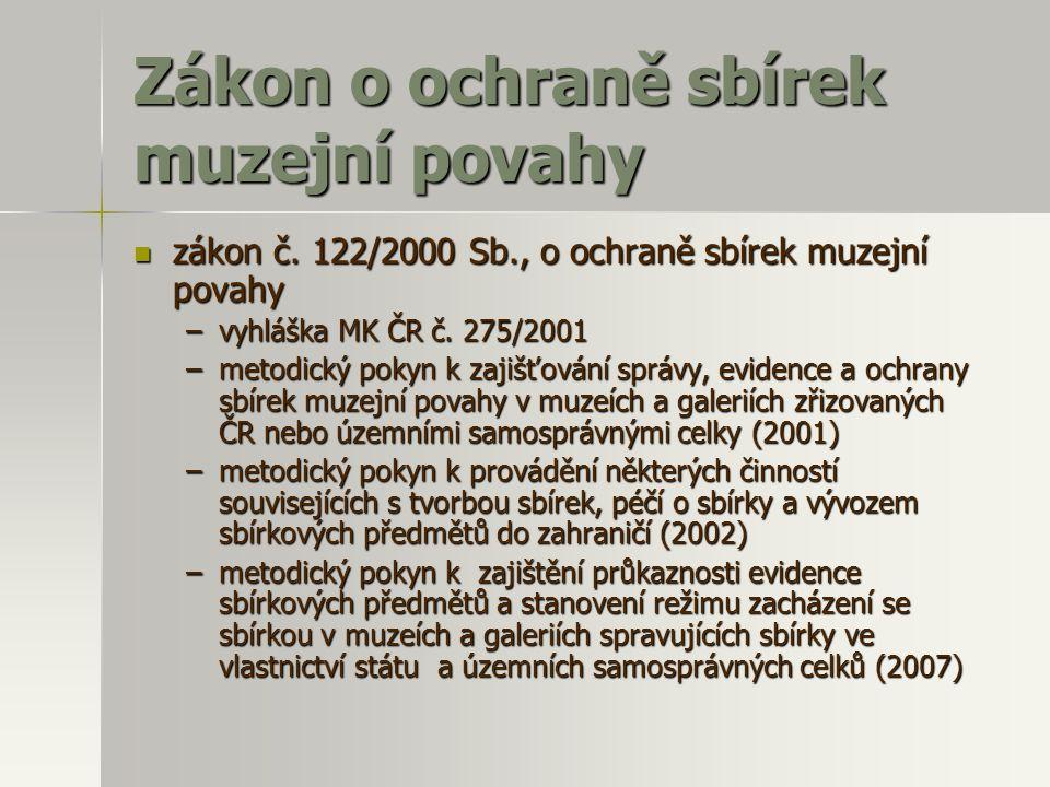 Zákon o ochraně sbírek muzejní povahy