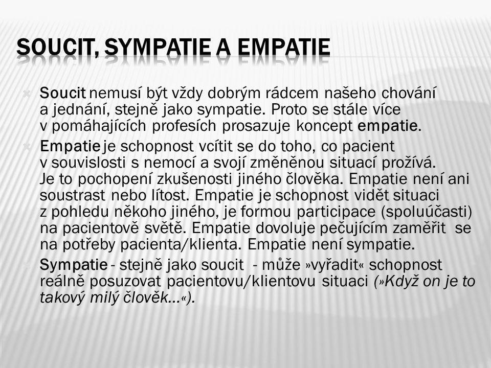 Soucit, sympatie a empatie
