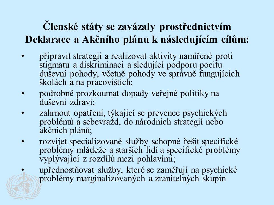 Členské státy se zavázaly prostřednictvím Deklarace a Akčního plánu k následujícím cílům: