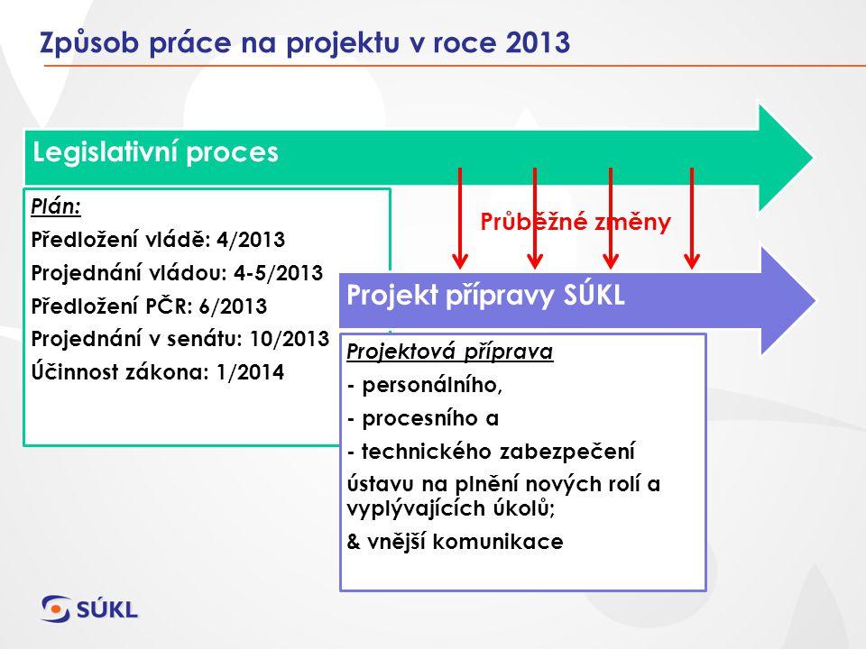 Způsob práce na projektu v roce 2013