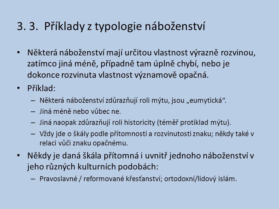 3. 3. Příklady z typologie náboženství