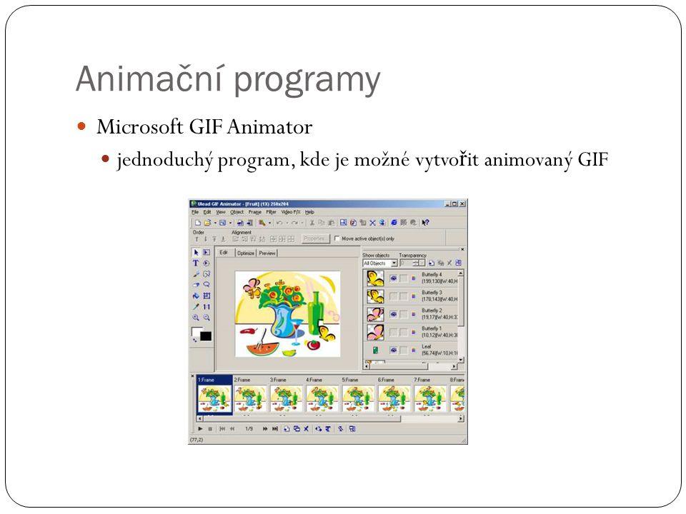Animační programy Microsoft GIF Animator