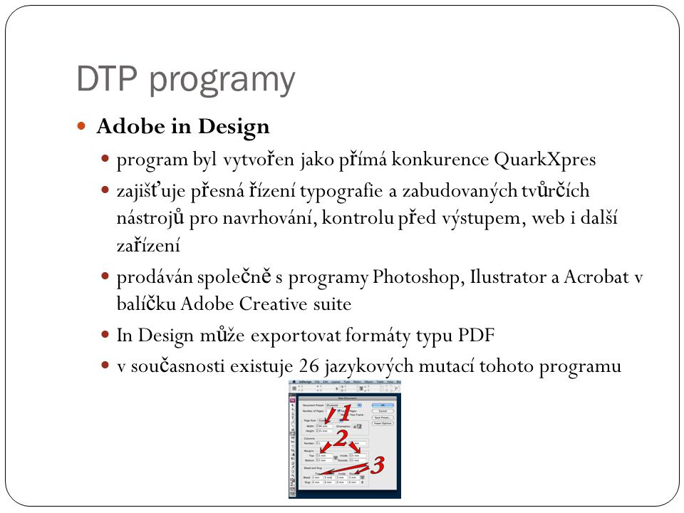 DTP programy Adobe in Design