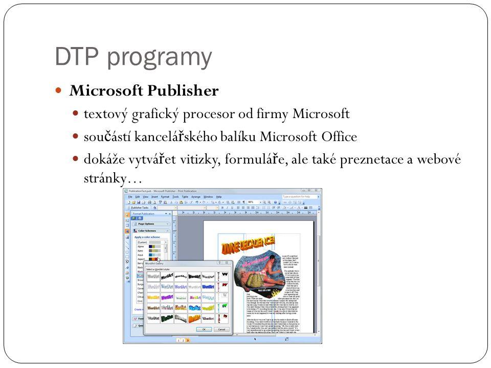 DTP programy Microsoft Publisher