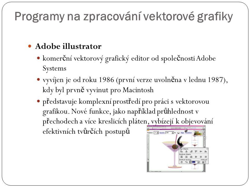 Programy na zpracování vektorové grafiky