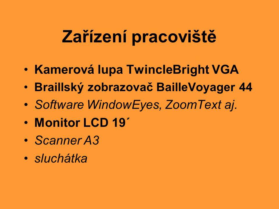 Zařízení pracoviště Kamerová lupa TwincleBright VGA