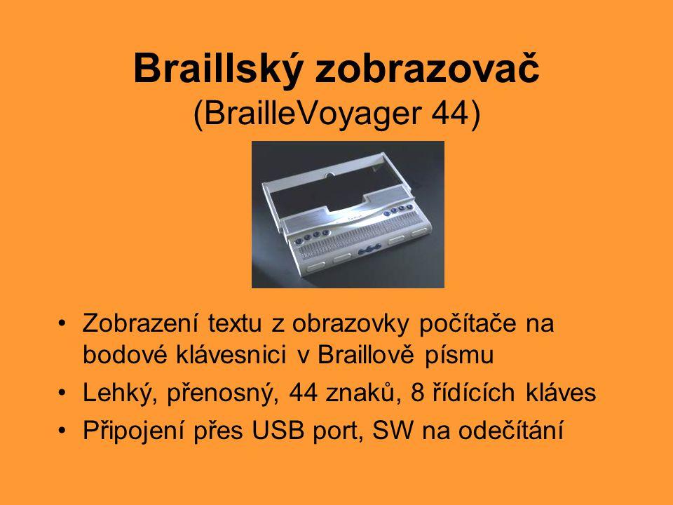 Braillský zobrazovač (BrailleVoyager 44)