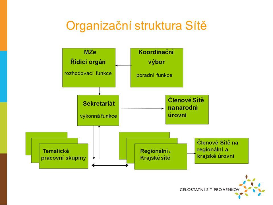 Organizační struktura Sítě