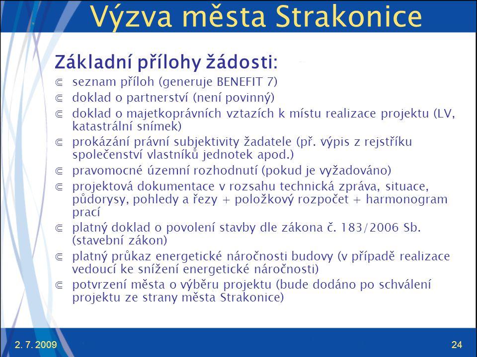 Výzva města Strakonice