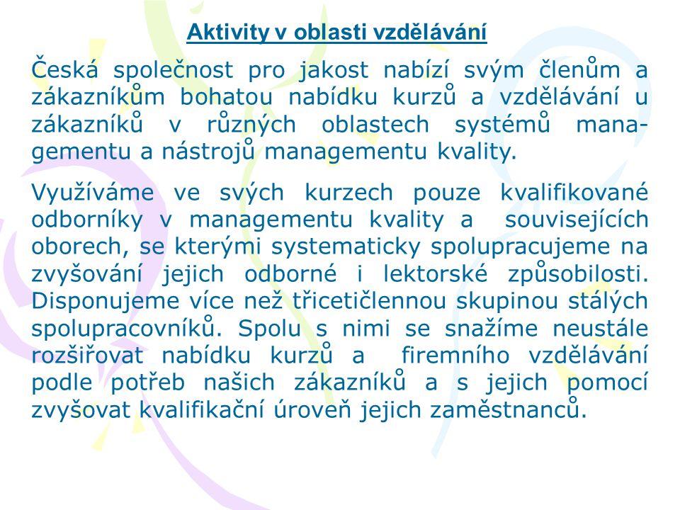 Aktivity v oblasti vzdělávání