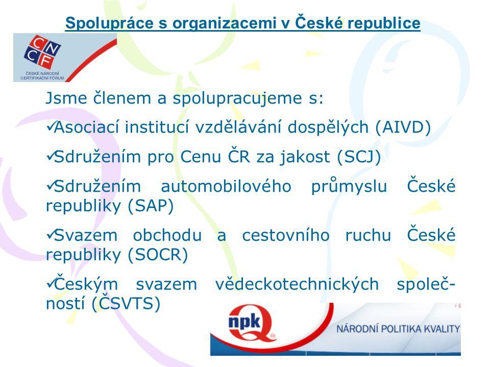 Spolupráce s organizacemi v České republice