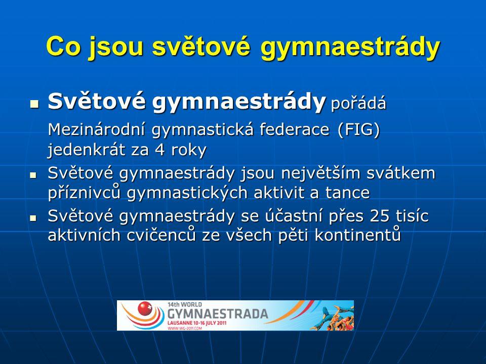 Co jsou světové gymnaestrády