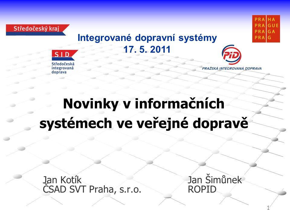 Novinky v informačních systémech ve veřejné dopravě