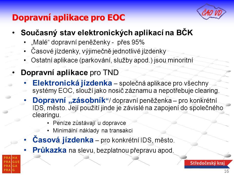 Dopravní aplikace pro EOC