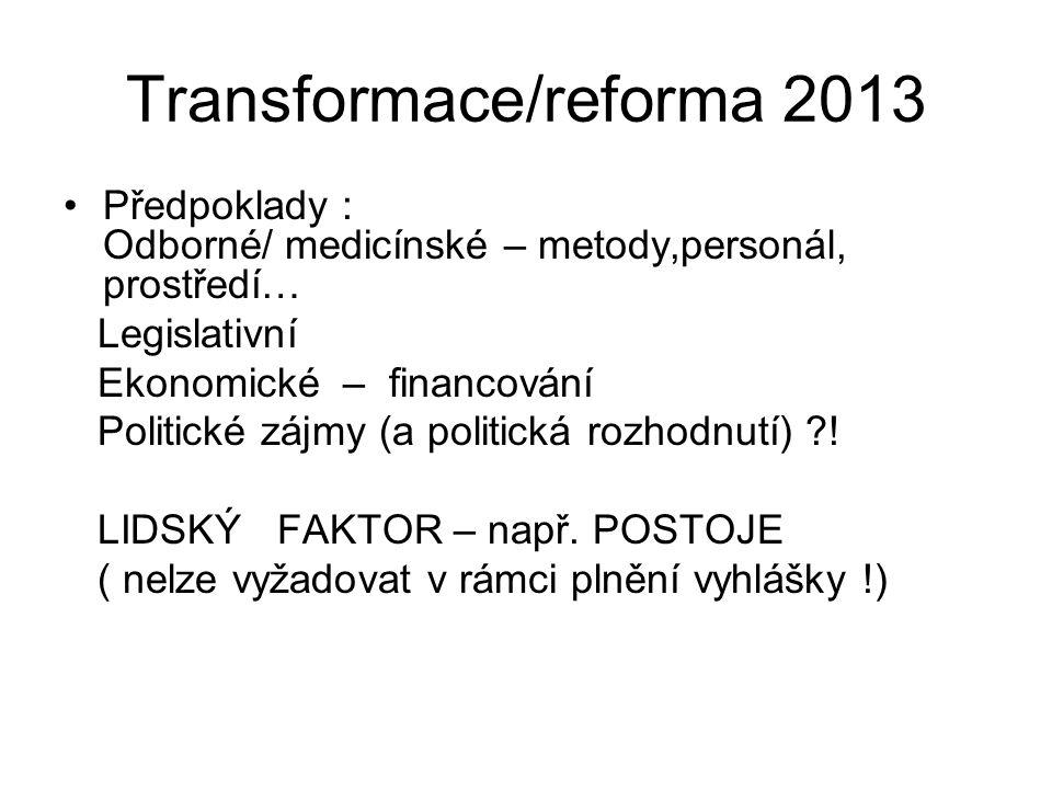 Transformace/reforma 2013