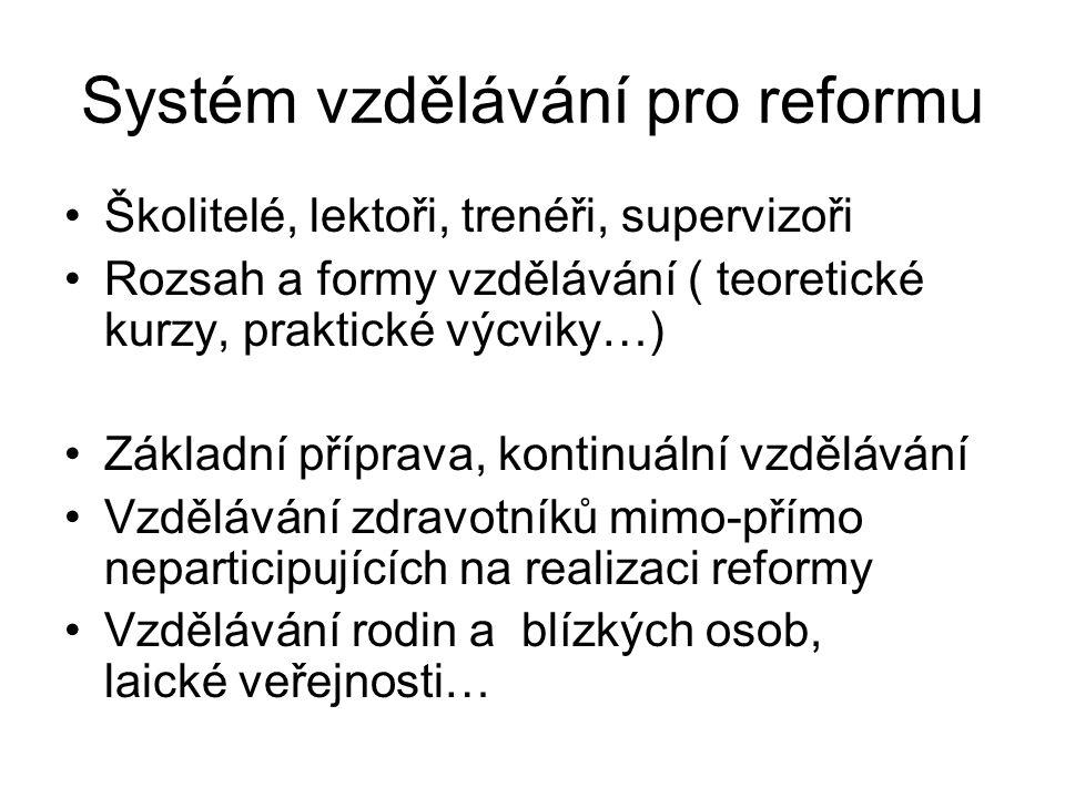Systém vzdělávání pro reformu