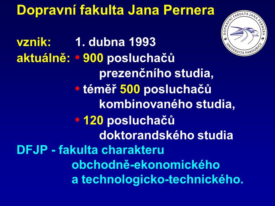 Dopravní fakulta Jana Pernera vznik:. 1. dubna 1993 aktuálně: