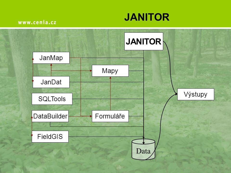 JANITOR JANITOR Data JanMap Mapy JanDat Výstupy SQLTools DataBuilder