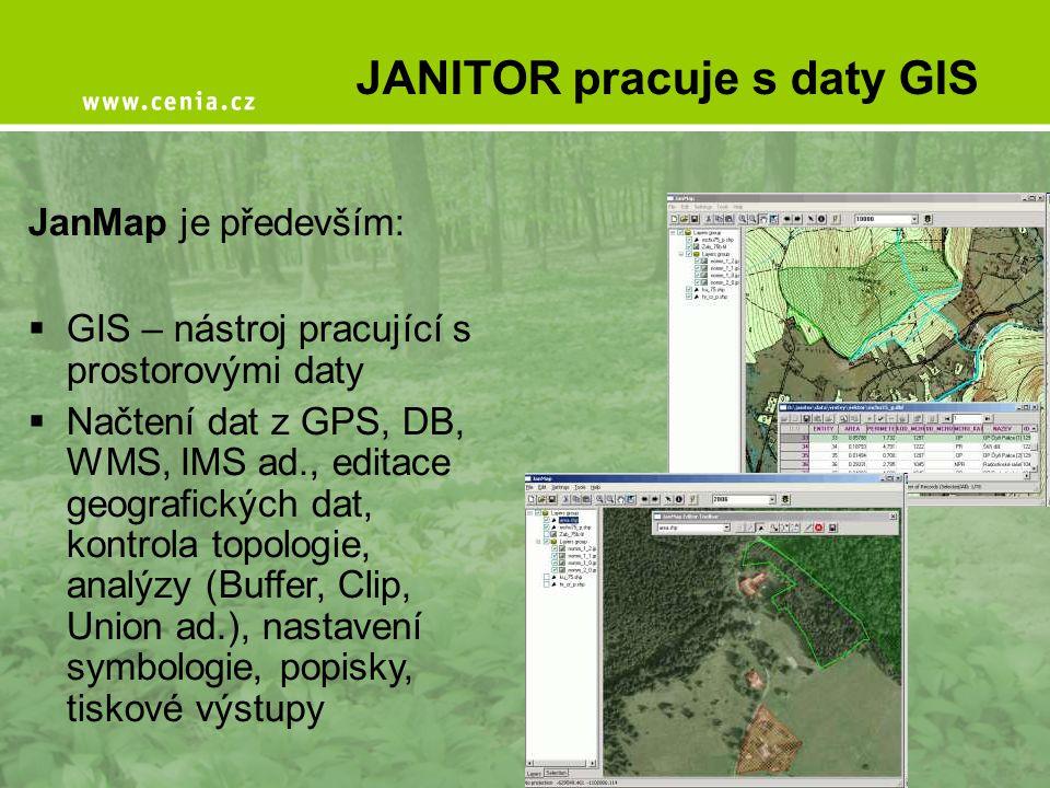 JANITOR pracuje s daty GIS
