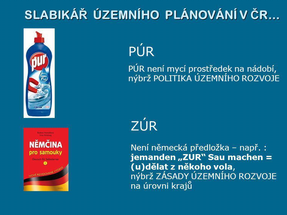 PÚR ZÚR SLABIKÁŘ ÚZEMNÍHO PLÁNOVÁNÍ V ČR…