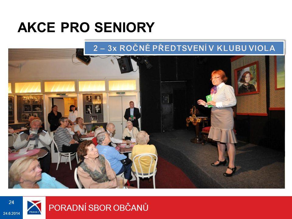 AKCE PRO SENIORY Ve spolupráci městské části Praha 1 a Střediska sociálních služeb.