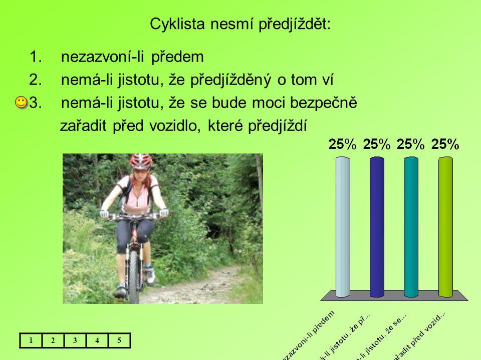 Cyklista nesmí předjíždět: